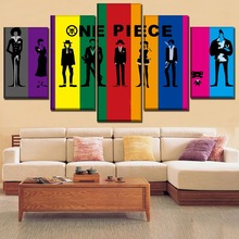 Modern Home Decor Picture Wall Art Canvas Painting One Piece Anime HD Printed Poster Paintings on for Artwork