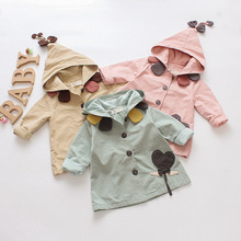 Embroidery Kids Baby Girl Jeans Outerwear Coat Denim Jacket