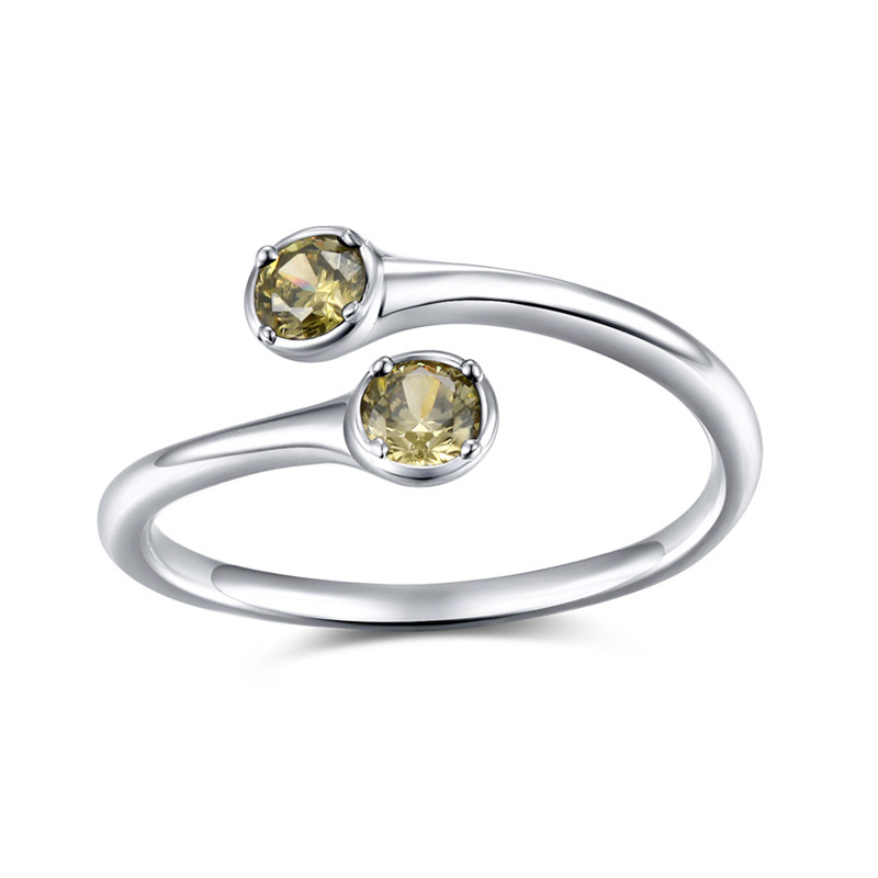 Tigrade Jewelry Fashion Silver 925 Resizable Rings Simple Design Sterling Silver Ring with Cubic Zirconia for Women in Rings from Jewelry Accessories