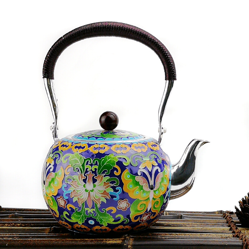 High Grade 999Silver Pot Kung Fu Tea Pot Gift For Family And Friends Kitchen Office Tea Set