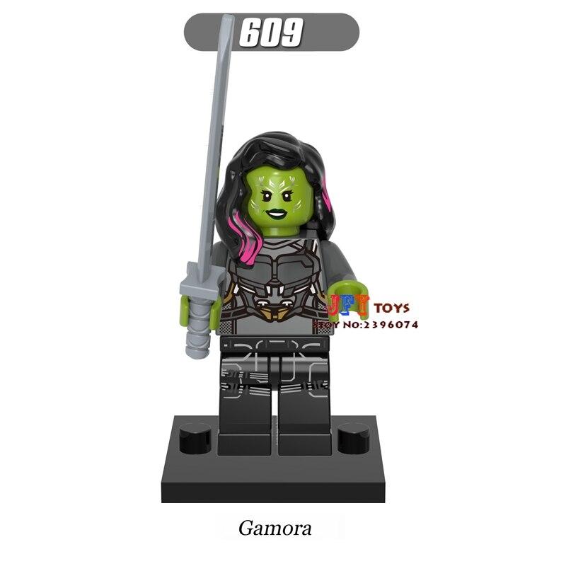 Single star wars building blocks Guardians of the Galaxy Gamora model bricks toys hobbies for children brinquedos menino