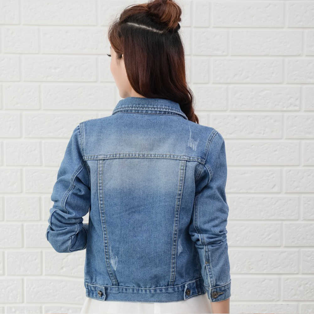 Gentillove Vrouwen 2019 Nieuwe Mode Denim Jassen Herfst Casual Lange Mouw Basic Korte Jean Jas Vintage Koreaanse Harajuku Jassen
