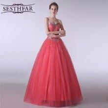 Sweetheart Crystal Bridesmaid Dresses Long Formal Women Dress Fashion Vestido Madrinha Party Gown Online Sale LFDZC0034