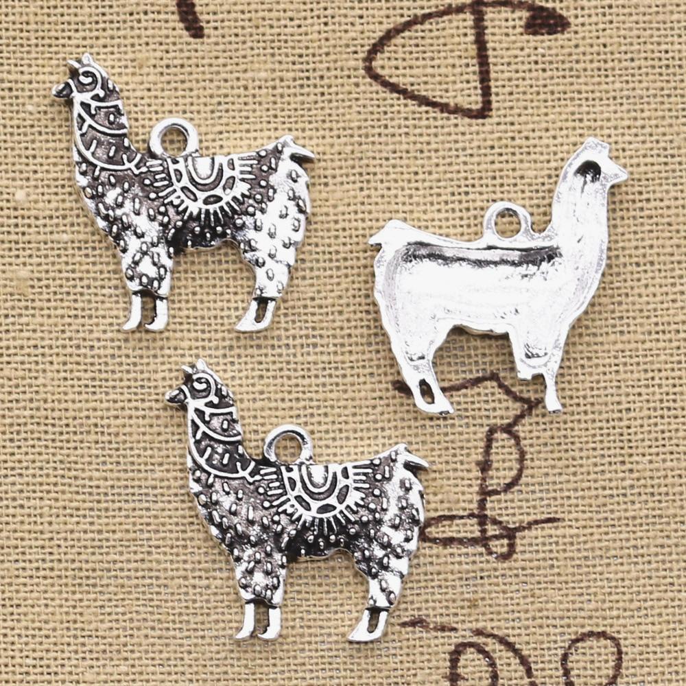 10 Stücke Charms Alpaka Gras Schlamm Pferd 26x25mm Antike Silber Überzogene Anhänger, Die Diy Handgemachten Tibetischen Silber Schmuck Aromatischer Geschmack
