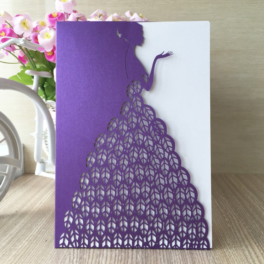 12pcs Lot 2017 Latest Wedding Card Bride Dress Designs Luxurious Invitation Paper Craft Invitations In Cards From