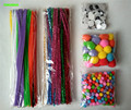 5 packs/lot Mixed Chenille Stems Pipe Cleaners Pompoms Turning Eyes Kindergarten DIY Art Craft Materials for Kids