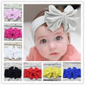 5 Cotton Large Bowkont Baby girls Headbands Vintage sector Big bows For Children Head wrap Bebes Lovely Cinta de cabeza 1Pc