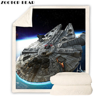 Star Wars Tapety 3D Spacecraft Blanket Plush for Adults Sherpa Fleece Bedspread Throw Blanket 150x200cm for Sofa 2019|Blankets| |  -