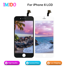 30PCS/LOT LCD For Apple iPhone 6 LCD Display Touch Screen Digitizer Assembly No Spot No Dead Pixel Black And White Fast Shipping for huawei ascend g7 c199 lcd display digitizer and touch screen assembly white color 1pc lot free shipping