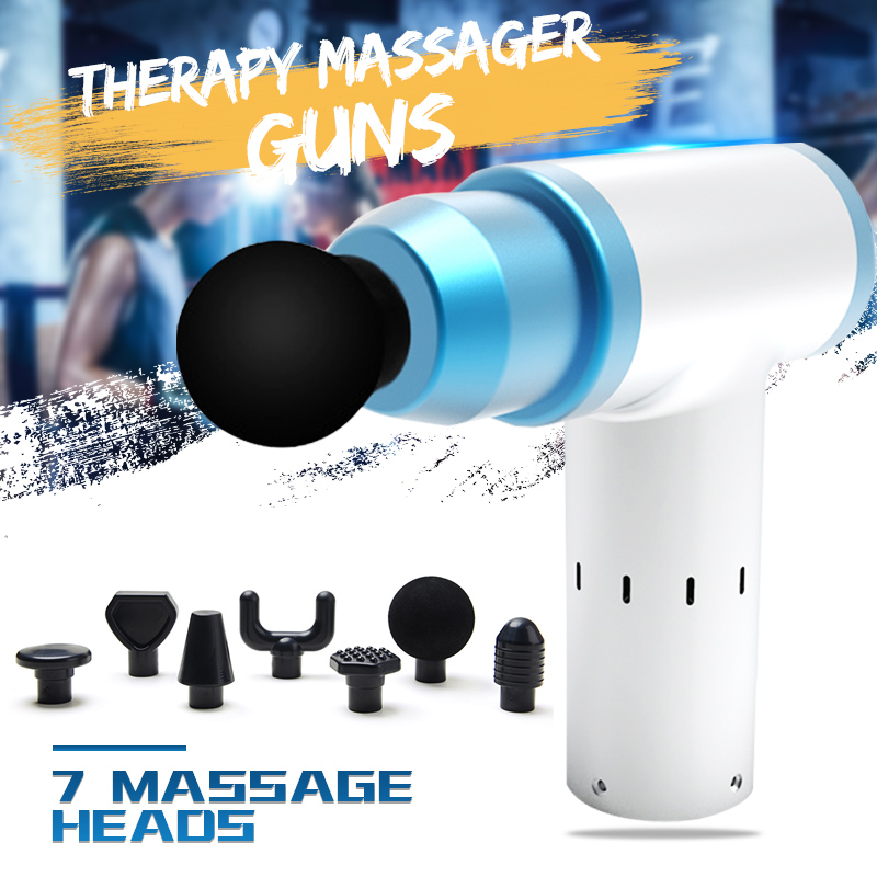 Percussion Massager Set With 7 Pcs Heads 3400r/min Professional Body Massager Electric Vibrating Muscle Massager Relax MusclePercussion Massager Set With 7 Pcs Heads 3400r/min Professional Body Massager Electric Vibrating Muscle Massager Relax Muscle