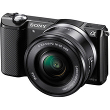 "Sony digital camera Alpha a5000 Mirrorless Digital Cameras with 16-50mm Lens (Black) -20MP -Three.zero"" LCD -Full HD 1080 Video -Wi-Fi"