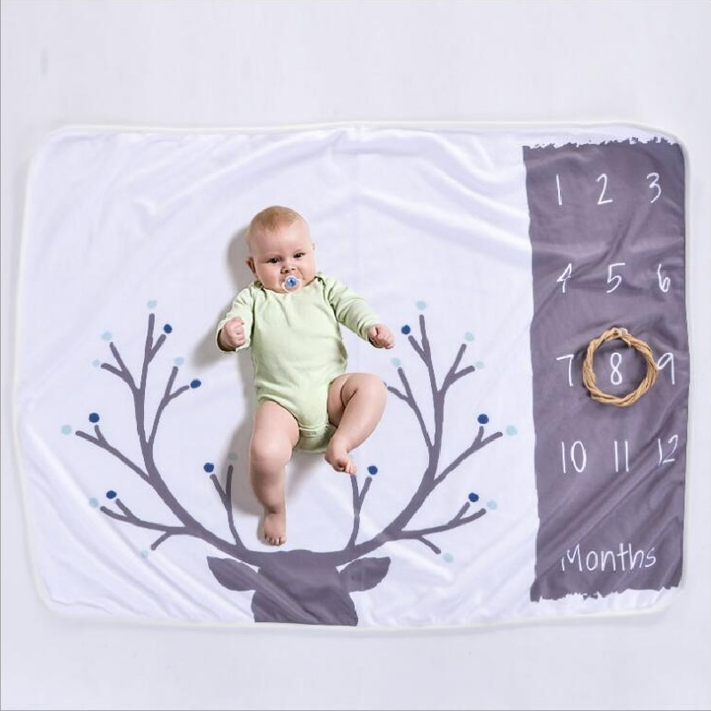 Cute Nordic Style Multi-functional Baby Blankets Photo Props Mat Play Mats Infant Bath Towel Kids Bed Room Decorative Mat | Happy Baby Mama