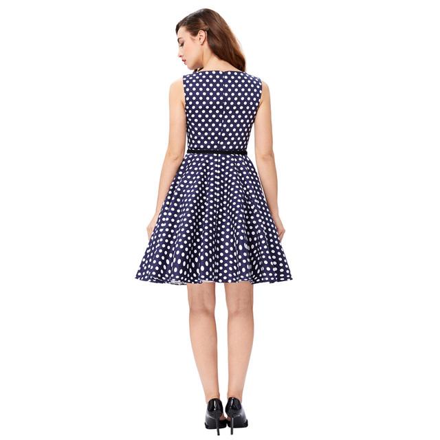 Women Summer Dress 2017 Retro 1950s 60s Vintage Rockabilly Dress Pinup Plus Size Sexy Polka Dots Short Party Dresses Vestidos