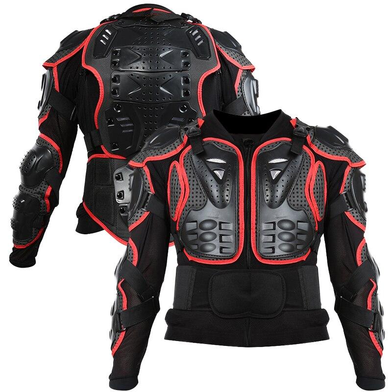 Мотокроссу Полный доспех мотоциклетная позвоночника Грудь Защитная Шестерни куртка XNC