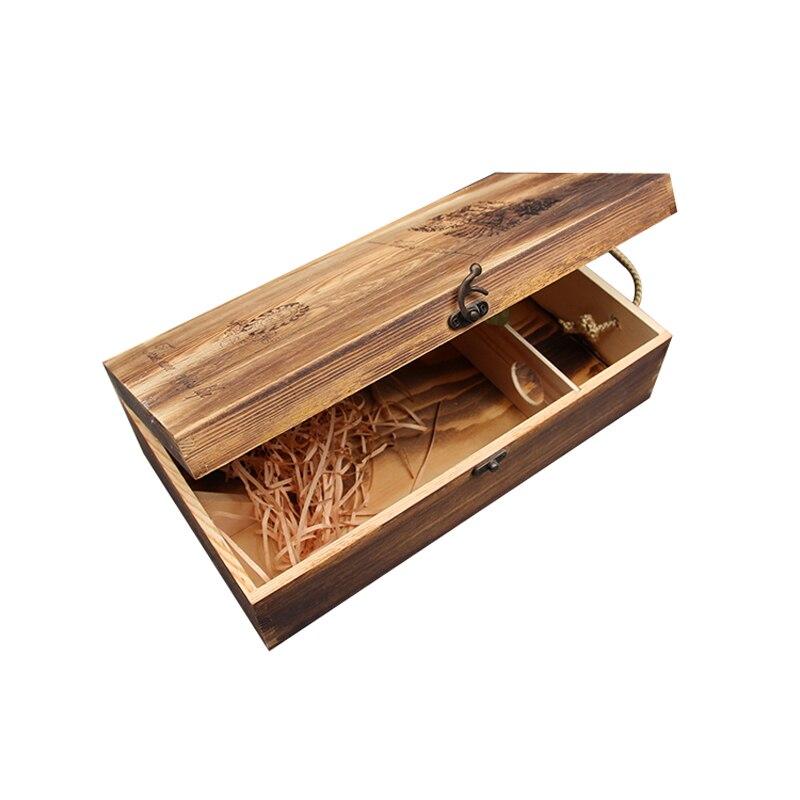 caja de vino de pino doble buque vintage cajas de madera del vino cajas bar