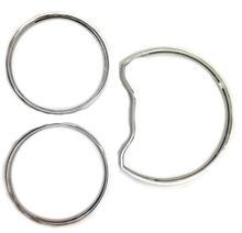 Хромированный набор колец для приборной панели mercedes benz