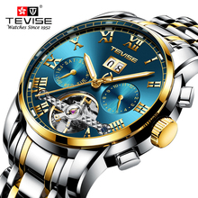 Top Brand Luxury Tourbillon Mechanical Watch Men Sports Watches Military Army Male Wrist Watch Clock TEVISE relogio masculino цена