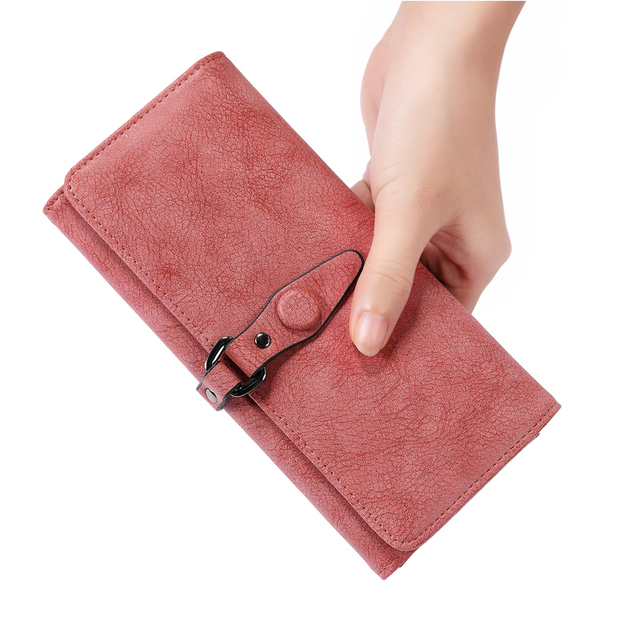 Women's Travel Long Wallet Artificial Leather Foldable Multi Card Holder