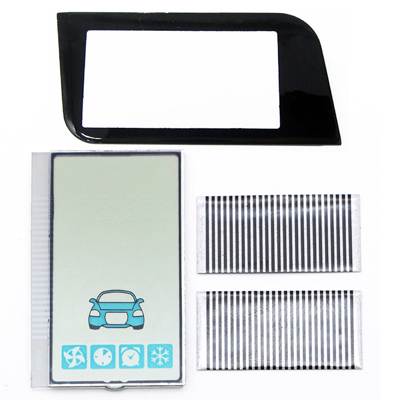 A93 Lcd Display Flexible Cable + Keychain Glass Case For Starline A93 GSM Lcd Remote Control 2 Way Car Alarm System