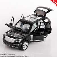 1 24 Free Shipping RANGE ROVER Alloy Diecast Car Model Pull Back Toy Car Model Electronic