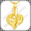 MJD9377 Chapado En Oro Collar De las Cenizas Urnas de Cremación Memorial Bebé Mamá Amor Corazón Collar De Urna