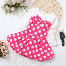 BibiCola Baby Girl Dress Dot Pattern Princess Dress Girls European Style Baby Dress Brand Designer Kids Clothes