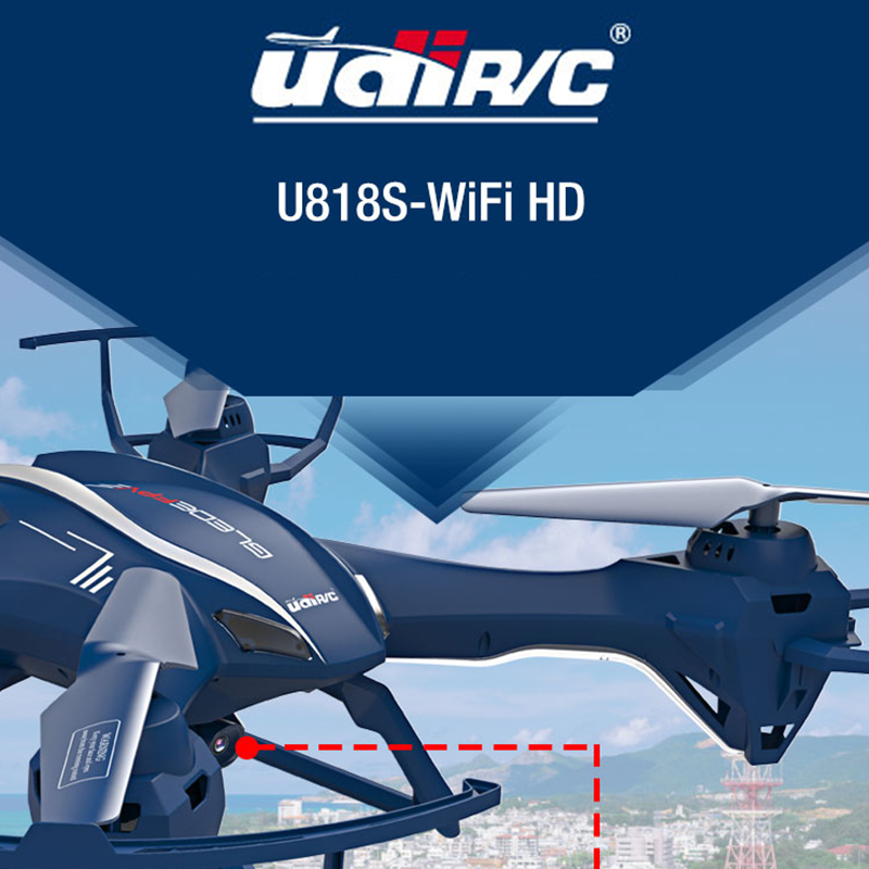 New UDI U818SW 2.4G 4CH Big RC Quadcopter Drone Helicopter 5.0MP HD Wifi FPV Camera Can lift  Distance Flying yizhan i8h 4axis professiona rc drone wifi fpv hd camera video remote control toys quadcopter helicopter aircraft plane toy