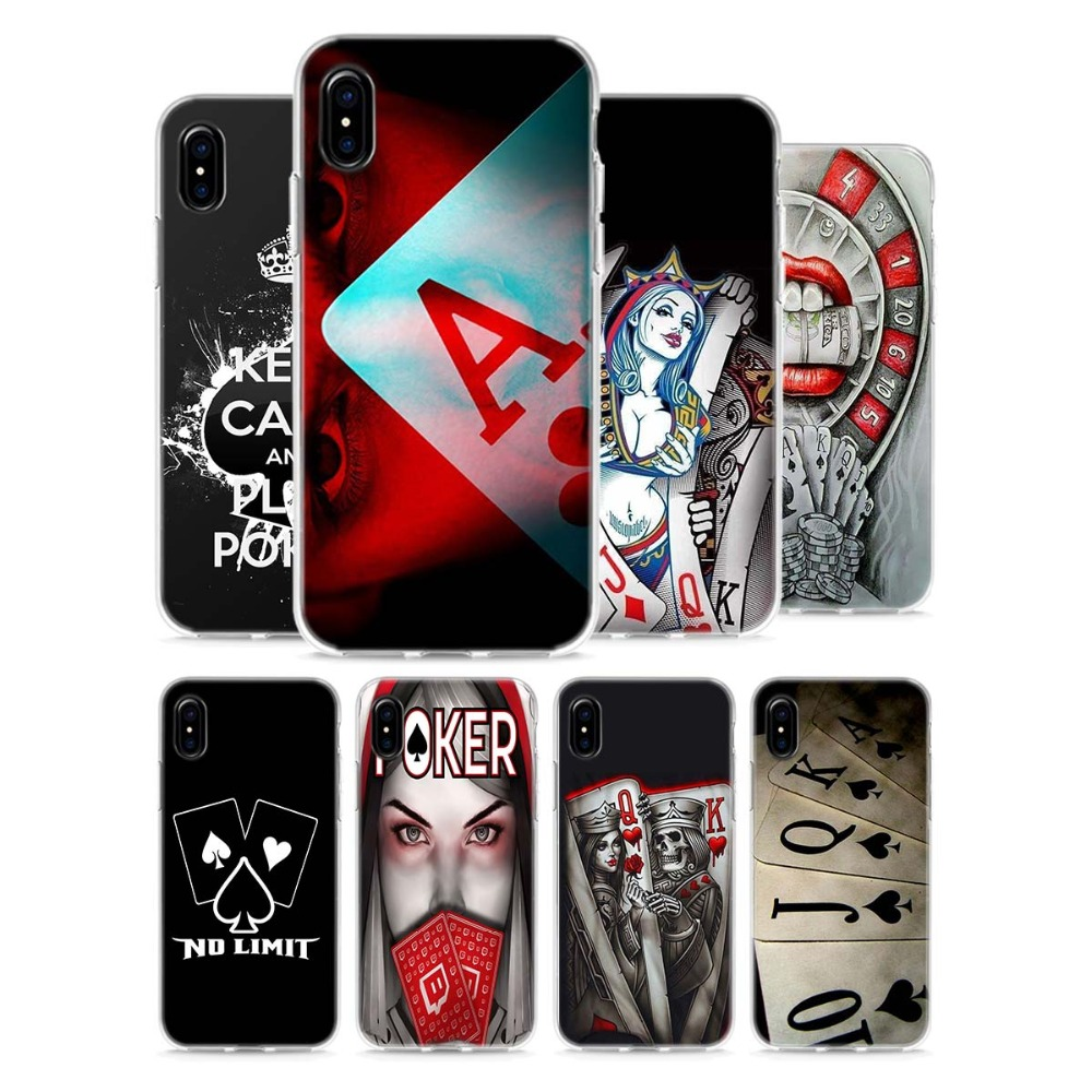 Half-wrapped Case Maiyaca Poker Joker Novelty Fundas For Iphone 4s Se 5c 5s 6 6s 7 8 Plus X Xr Xs Max Black Soft Shell Phone Case Rubber Silicone Available In Various Designs And Specifications For Your Selection