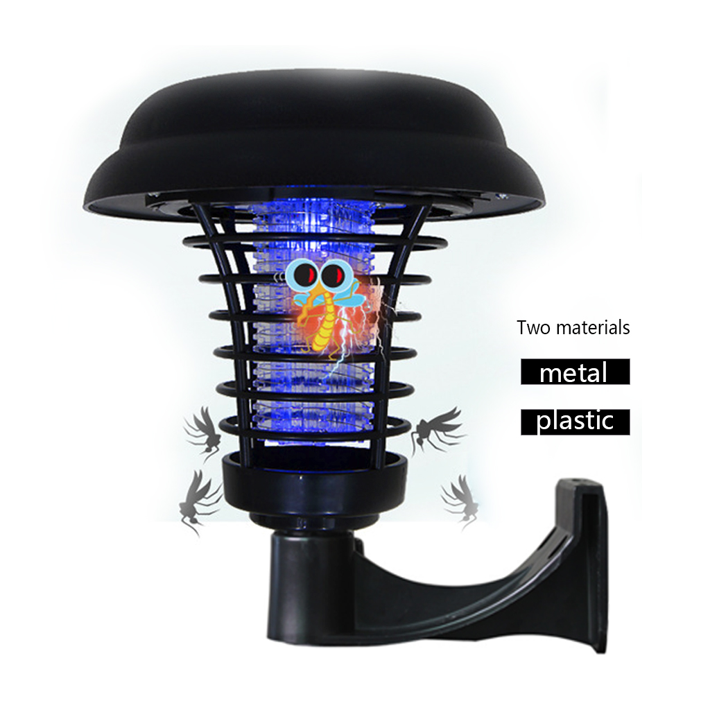 Solar Powered Mosquito Killer Outdoor Lamp LED Mosquito Bug Zapper Repellent UV Light for Garden Yard Lawn Path Super strong|Mosquito Killer Lamps| |  - title=
