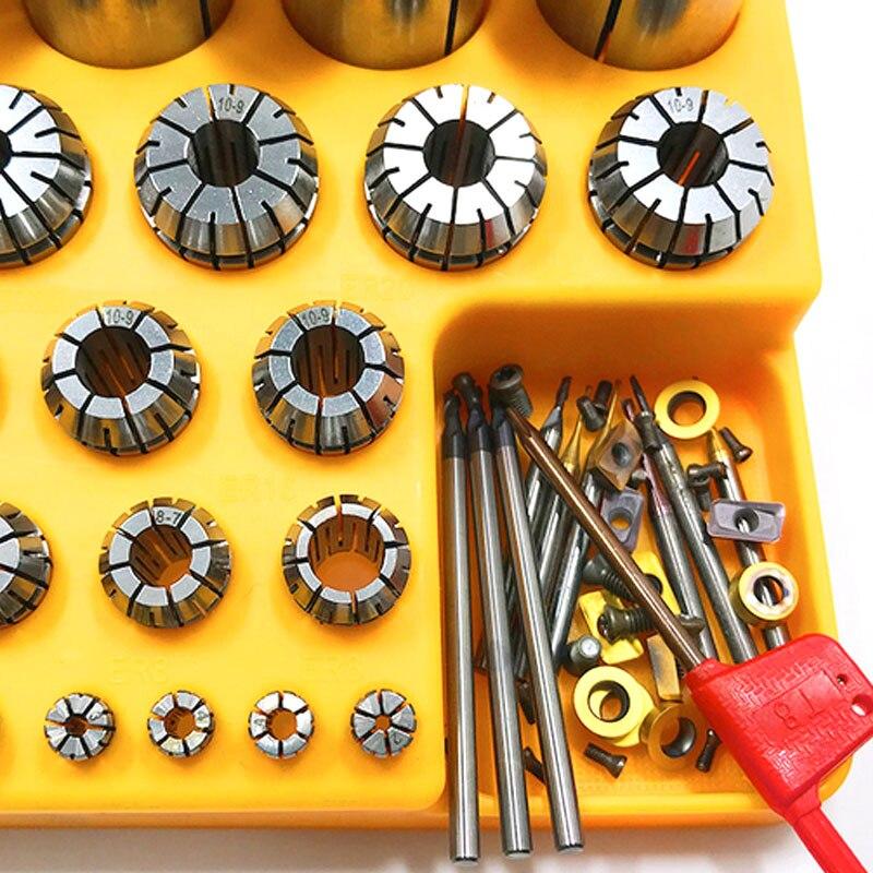 Chuck Milling Machine Turning Tool Blade Organizer Durable Storage Box Collectio