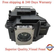 Een + Kwaliteit En 95% Helderheid Projector Lamp ELPLP58 Voor Epson EX5200/EX7200/Emp 1220/1260/s10 +/S9/Vs 200/H367A/H367B/H367C