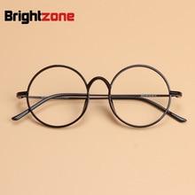 Light Thin Plastic Steel Tungsten Optical Glasses Frame Round Unisex Women Men Geek Eyewear can Fill Myopia Presbyopia Lens