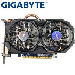 جيجابايت بطاقة الفيديو الأصلي GTX 750 Ti 2GB 128Bit GDDR5 بطاقات الرسومات ل nVIDIA غيفورسي GTX 750Ti Hdmi Dvi تستخدم VGA بطاقات