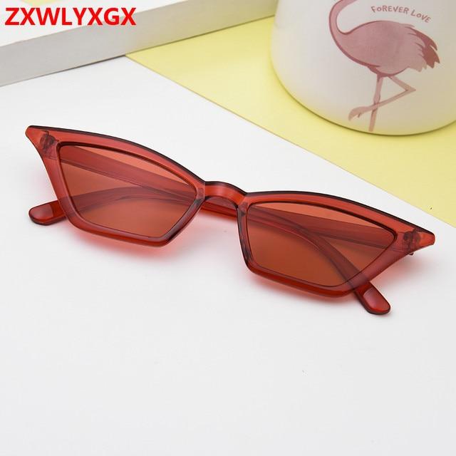 ZXWLYXGX 2018 new cat eye sunglasses women brand design retro colorful transparent colorful fashion cateye sun glasses men UV400 1