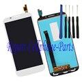 Branco completa LCD + tela de toque digitador assembléia para Alcatel POP S7 7045 OT7045 7045Y 7045A + ferramentas