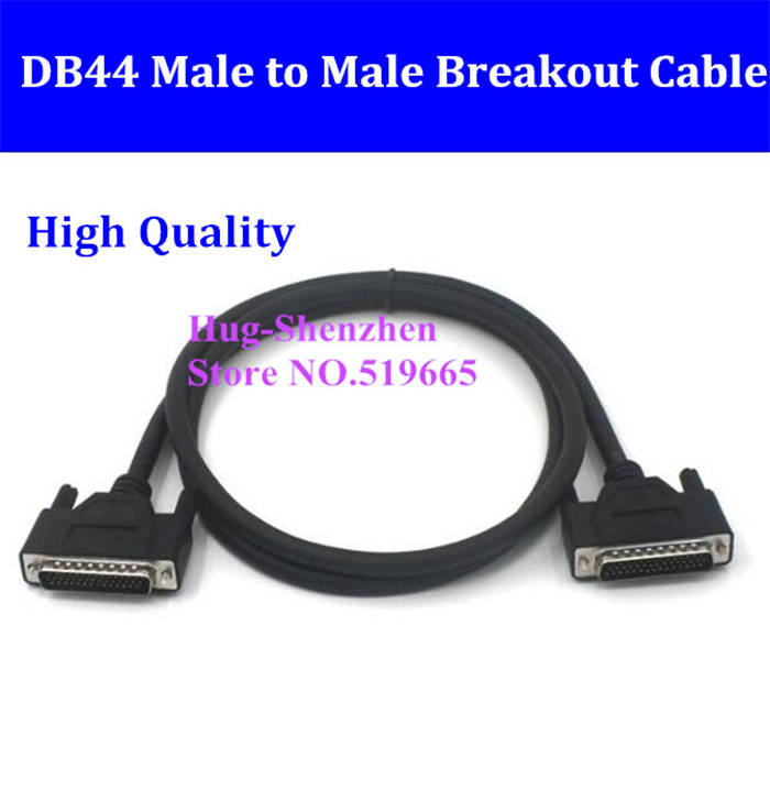 DB44 D-SUB DR-44 44 Pins Male To Male Signal Terminal Breakout Connector Cable 0.5M/1M/1.5M/2M