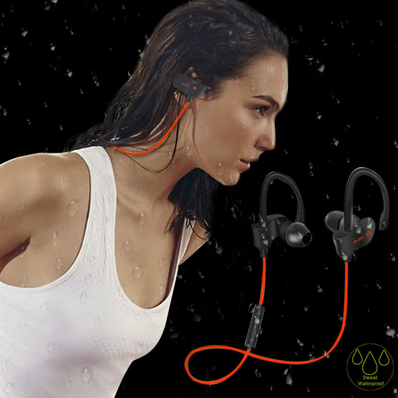 Wireless Bluetooth 4.1 Headset Earphone Stereo Bass Music Voice Control Sport Headphone Handsfree with Mic for IOS Android Phone