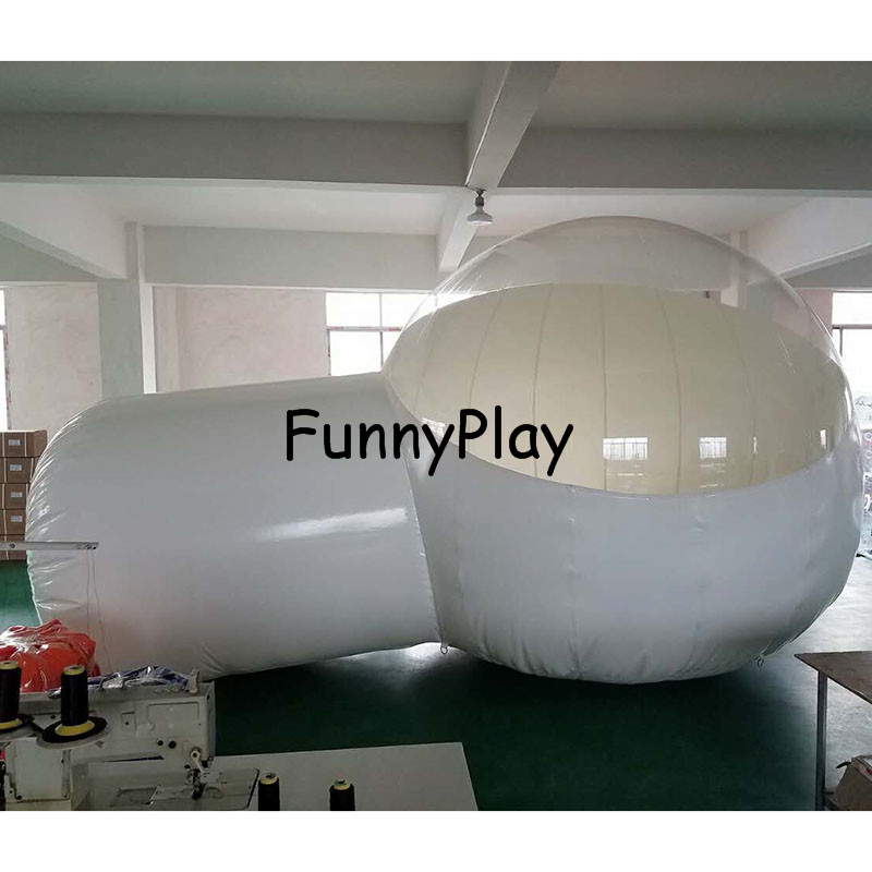 Maison d'exposition gonflable de tente d'arbre de bulle de diamètre de 4 m/3 m, tente extérieure de logement d'étoile d'arrière-cour de Famaily de tente de serre