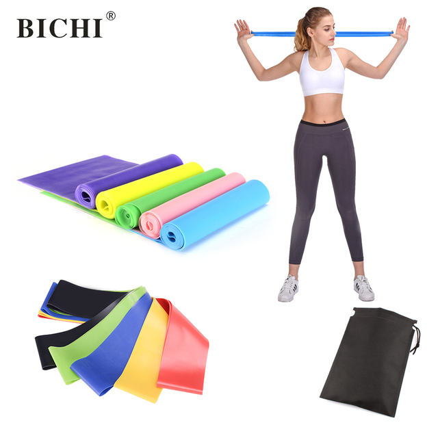 45ceef0ed659 BICHI Resistance Bands Rubber Loops Latex Yoga Gym Strength Training  Athletic Rubber Band Kits Workout Fitness Gym Equipment