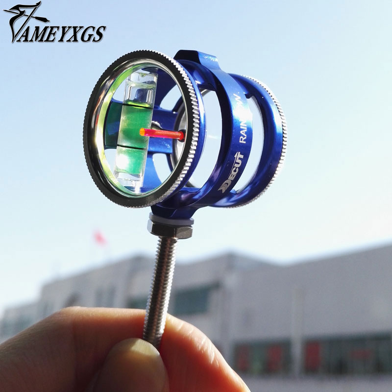 Archery 8x Magnification Compound Bow Sight Optical Fiber 1 Pin Translucent Acrylic Lens Archery Arrow Aluminum