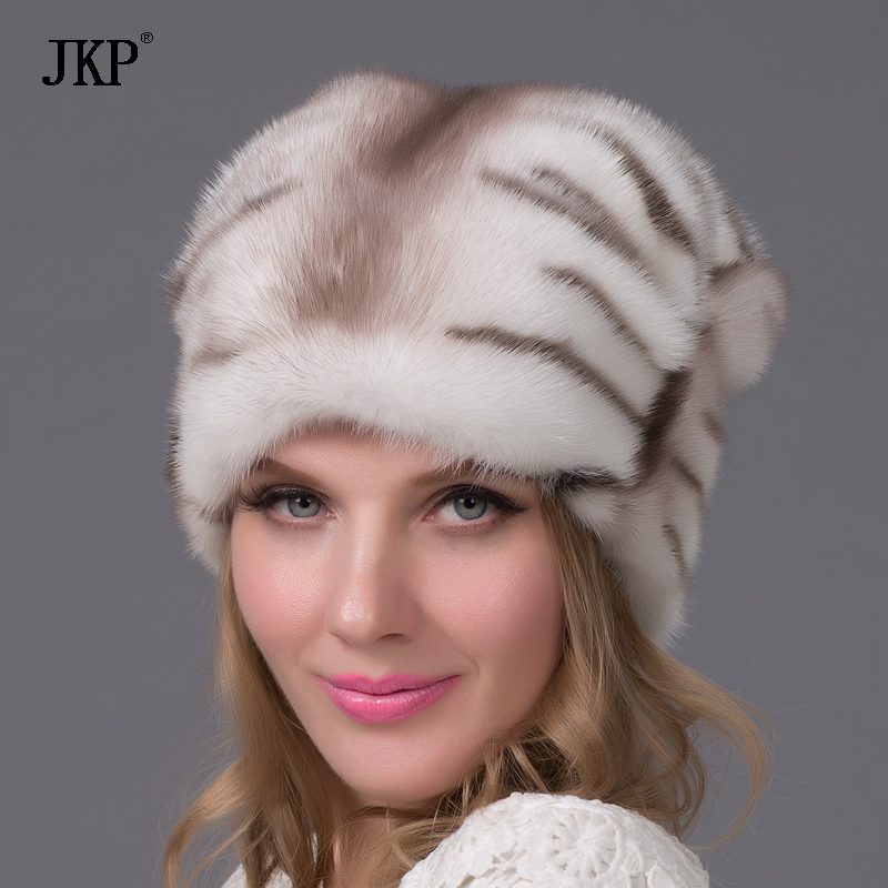 women s natural real mink fur hat autumn and winter real water mink fur cap warm