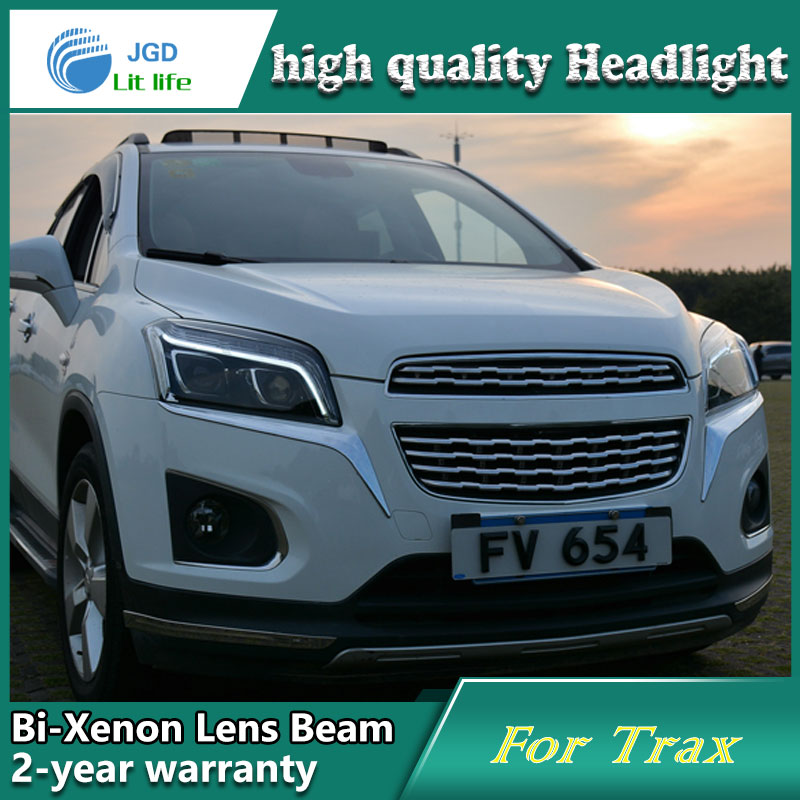 Car Styling Head Lamp case for Chevrolet Trax Headlights LED Headlight DRL Lens Double Beam Bi-Xenon HID Accessories car styling head lamp case for skoda superb 2009 2013 headlights led headlight drl lens double beam bi xenon hid accessories