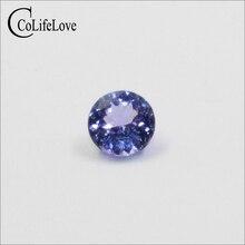 100% real natural tanzanite loose gemstone 4mm & 5mm round cut tanzanite gemstone for wedd