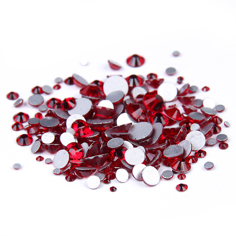 Light Siam SS3-ss34 Non Hotfix Strass Rhinestones For Nail Art Decoration Flatback Glue On Glass Stones And Crystal DIY Supplies ss16 4mm cobalt blue nail rhinestones 1440pcs bag non hotfix flatback glass glitters crystals for diy nail art strass stones