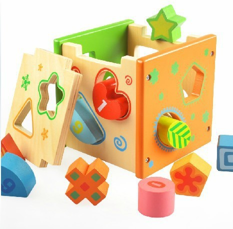 Geometric Matching Toy Intelligence Box 18 Months Baby Educational Toys  Years Old Baby Toy Product Log Cabin