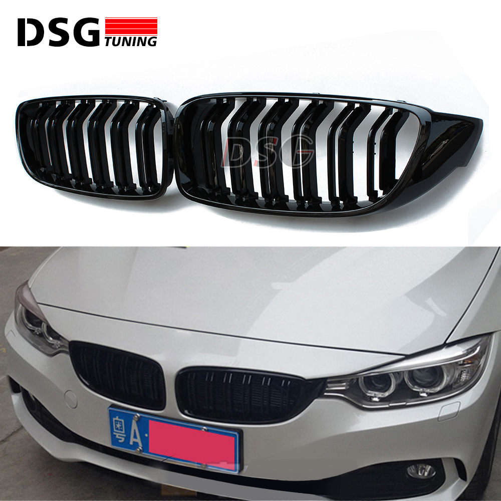 4 Series F32 F33 Front ABS Grill for BMW F36 F80 M3 F82 F83 M4 2 Door Coupe Convertible 420i 428i 435i 428d 420d 425d 430d 435d 2pcs new style m performance side skirt sill decal stripe vinyl sticker for bmw 4 series f32 f33 420i 428i 435i
