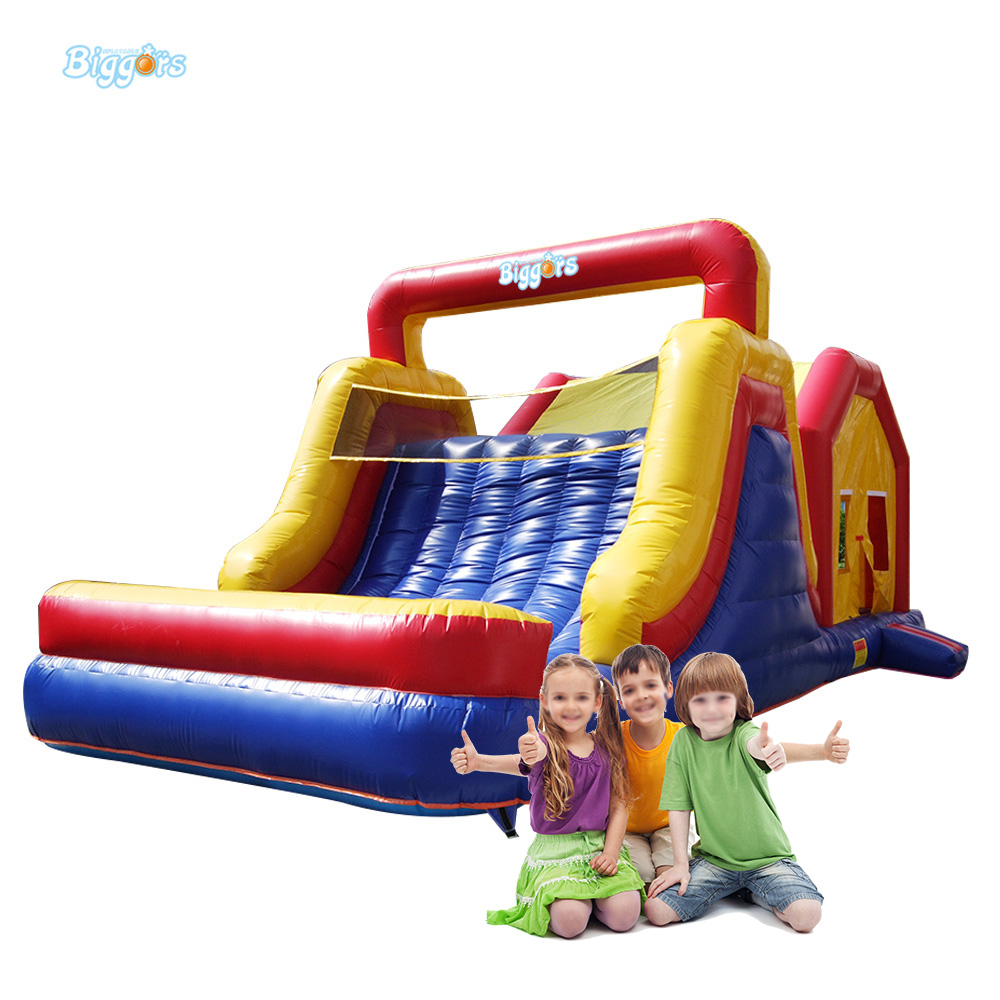 Commercial Inflatable Bouncing Castle with Big Slide for Children 6 4 4m bounce house combo pool and slide used commercial bounce houses for sale