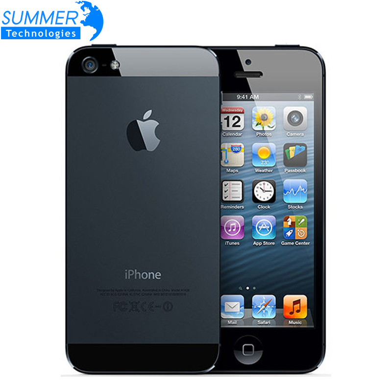 Original Unlocked Apple iPhone 5 Cell Phones Dual Core 16GB 32GB 8MP Camera 4 0 inches