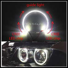 2017 Car LED Halo Rings DRL SMD LED Angel Eyes for BMW 131mm White LED Headlight angel eyes For BMW E36 E38 E39 E46 недорго, оригинальная цена