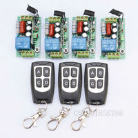 Receiver Transmitter 220V 1CH 10A Wireless Remote Control Relay Switch System Light Lamp LED SMD ON